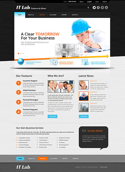 IT Laboratory, Bootstrap template