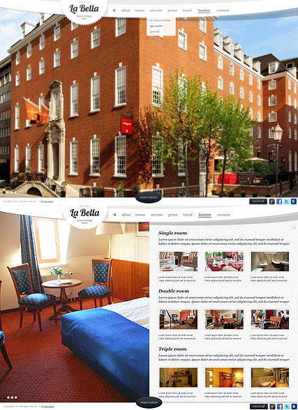 The Hotel, HTML5 template
