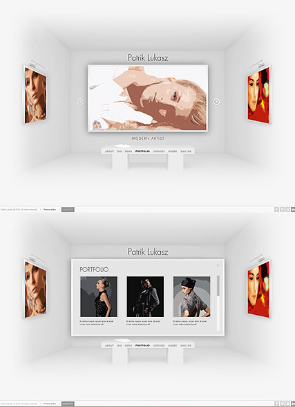 Artist Exhibition, HTML5 template