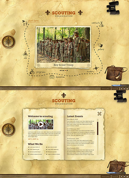 Scouting, HTML5 template