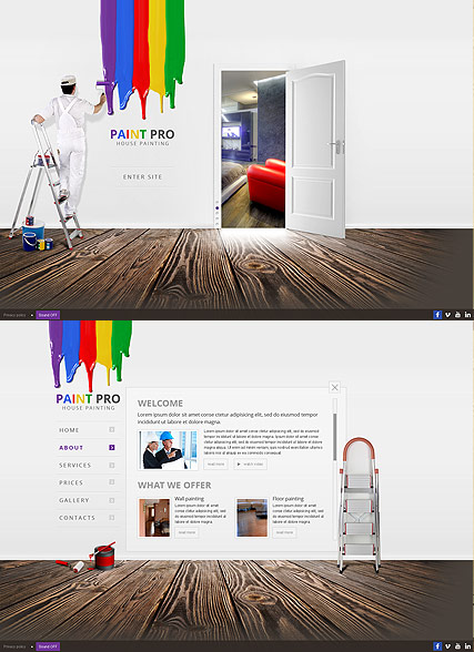 House Painter, HTML5 template