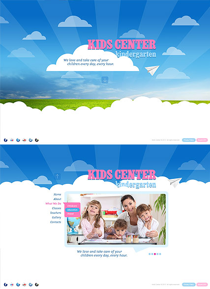 Kids Center, HTML5 template