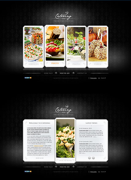 The Catering, HTML5 template