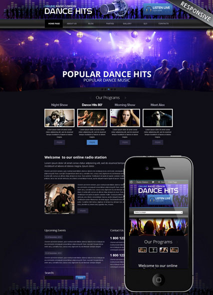 Online Radio, Wordpress template