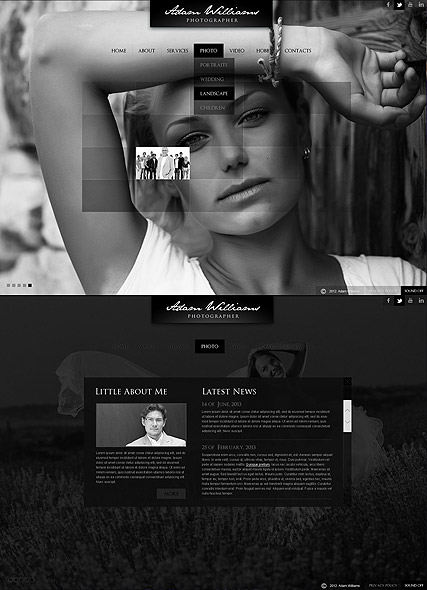 Portfolio, HTML5 Photo and Video Gallery Admin template