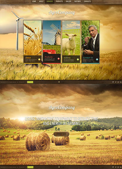 Agro Company, HTML5 template