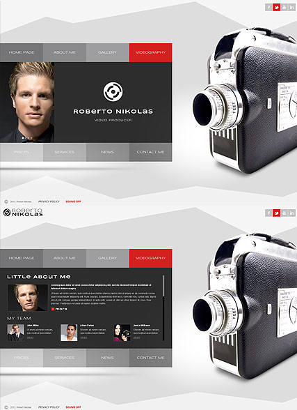 Video Producer, HTML5 template