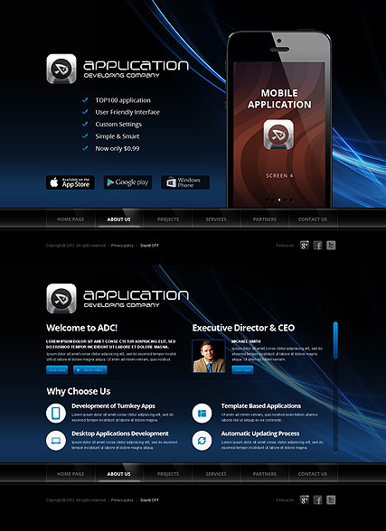 Software Developer, HTML5 template