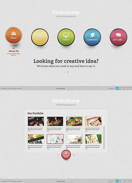 Media Group, HTML5 template
