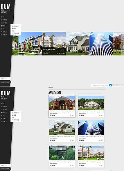 Realestate Agency, HTML5 template