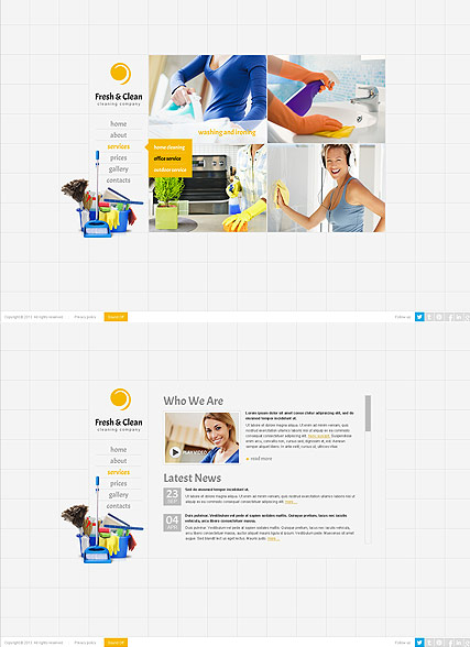 Cleaning company, HTML5 template