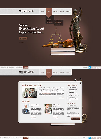 Lawyer, HTML5 template
