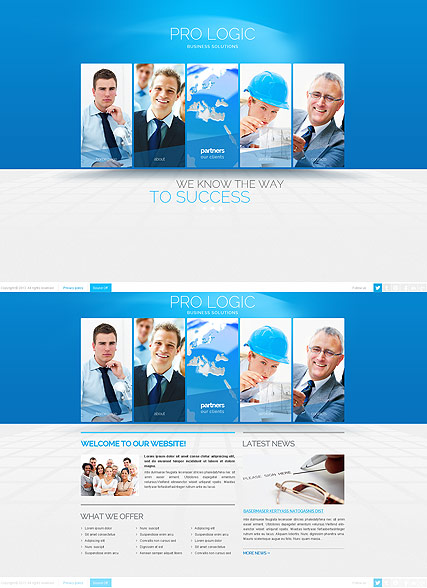 Blue Business, HTML5 template