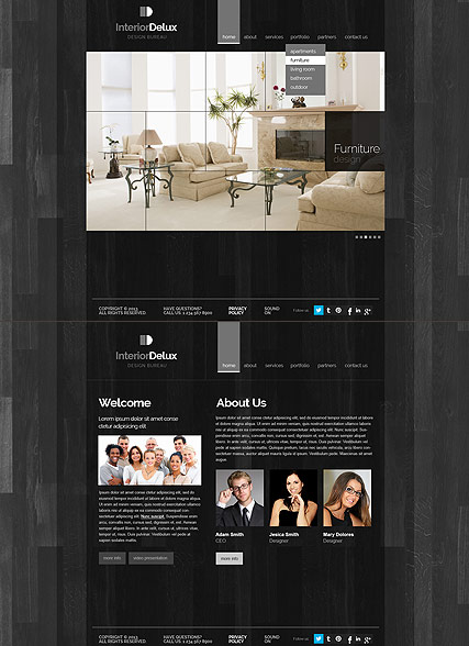 Interior Design, HTML5 template