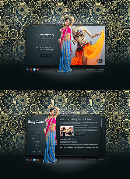 Belly Dance, HTML5 template