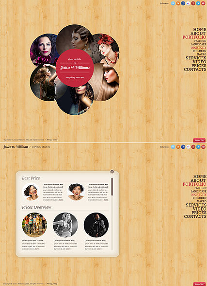 Circle design, HTML5 Photo and Video Gallery Admin template