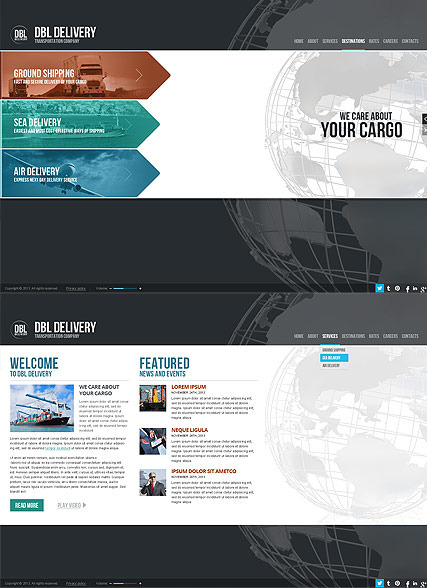 Delivery Company, HTML5 template