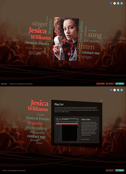 Singer, Easy flash template