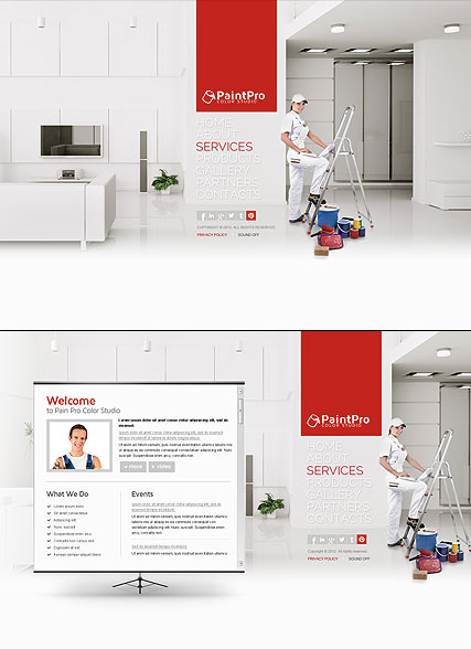 House Painting, HTML5 template