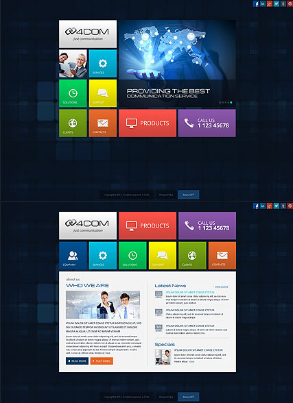 4 Communication, HTML5 template