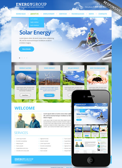 Name: Solar energy v3.0 - Type: Joomla template - Item number:300111673