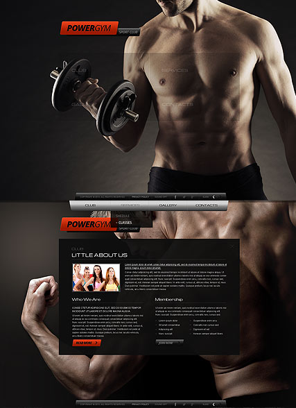 Name: Gym Sport Club - Type: HTML5 template - Item number:300111676