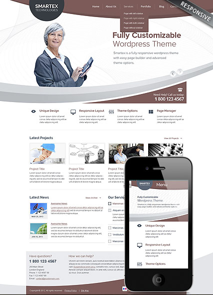 Business Corp, Wordpress template