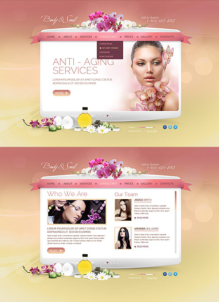 Beauty Spa Salon, HTML5 template
