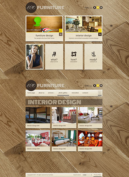Interior Furniture, HTML5 template