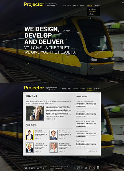 Creative Agency, HTML5 template