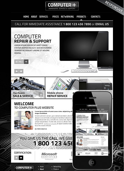 PC Repair v3.5, Joomla template