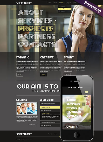 Smart Team, Bootstrap template