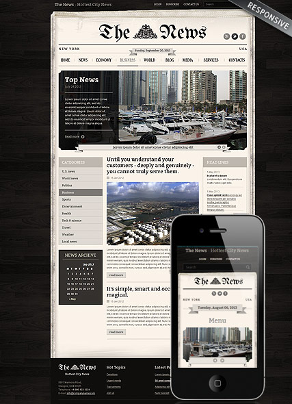 Newspaper, Wordpress template