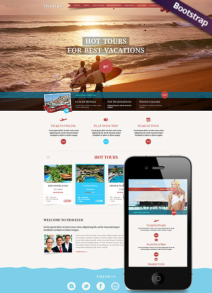 Travel, Bootstrap template