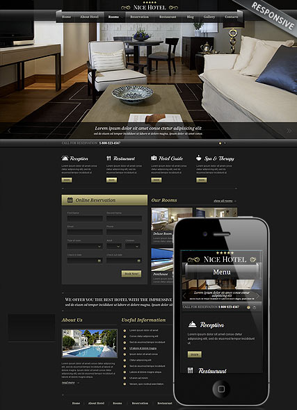 Best Hotel, Wordpress template