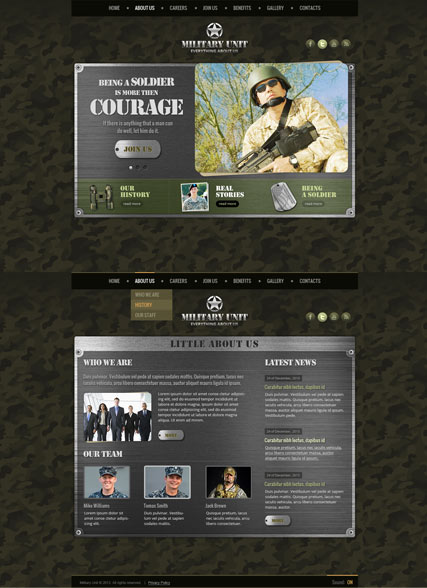 Name: Military Unit - Type: HTML5 template - Item number:300111720
