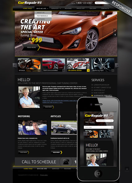 Car Repair v3, Joomla template