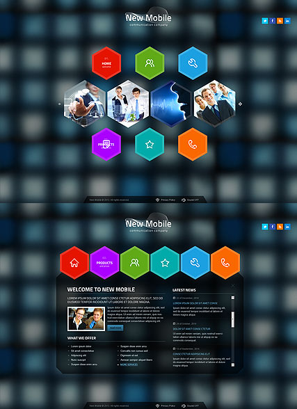 New Communication, HTML5 template