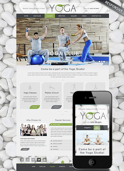Name: Yoga Club - Type: Wordpress template - Item number:300111732