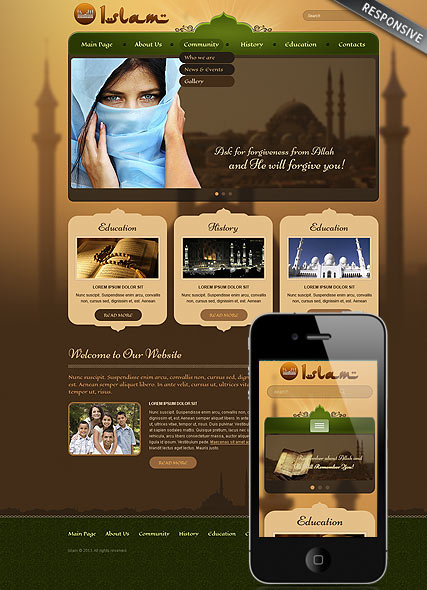 Islam, Wordpress template