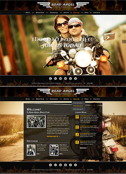 Name: Biker Club - Type: HTML5 template - Item number:300111738