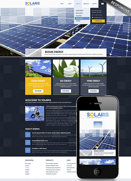 Solar Energy | Wordpress templates | ID:300111740