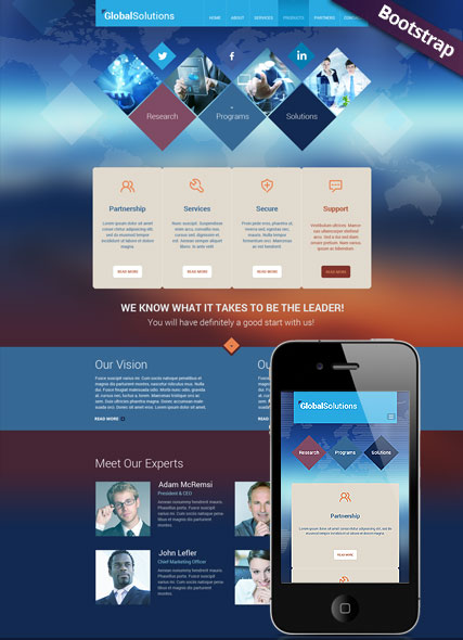 Global Solutions, Bootstrap template