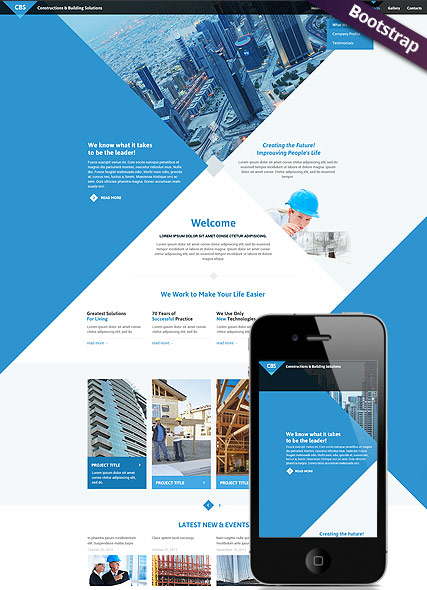 Architecture, Bootstrap template