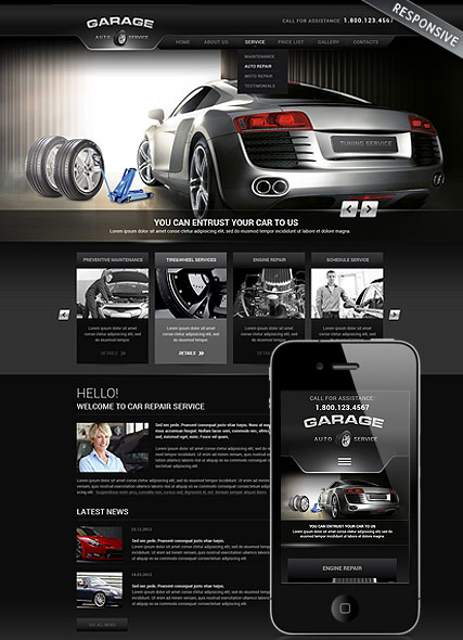 Car Repair Service | Wordpress templates | ID:300111752