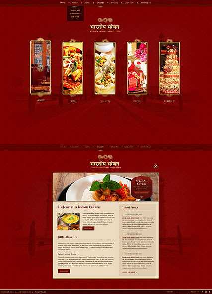 Name: Indian Restaurant - Type: HTML5 template - Item number:300111759