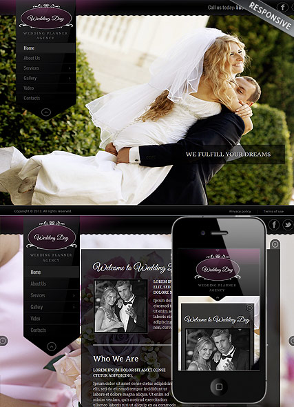 Wedding Planner, Wordpress template