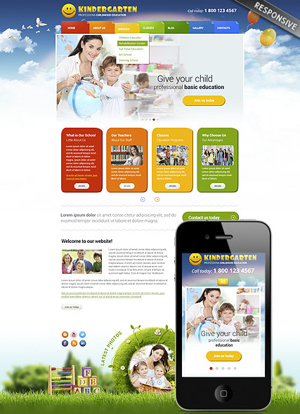 Name: Kindergarten - Type: Wordpress template - Item number:300111763