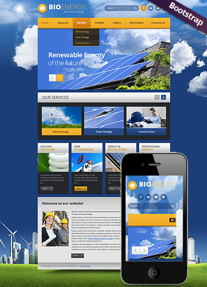 Bio Energy, Bootstrap template