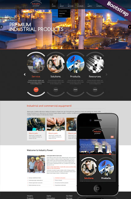 Industry Power, Bootstrap template